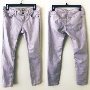 FREE PEOPLE Lavender Ankle Skinny Jeans